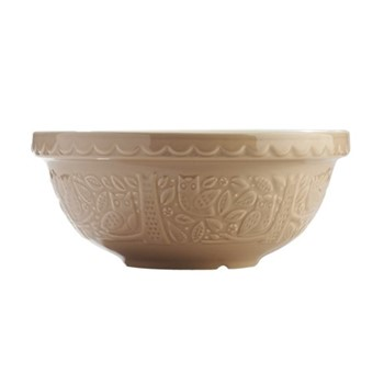 Owl Embossed Mixing bowl, 26cm, stone