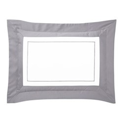 Lutece King size pillowcase, 50 x 90cm, platine