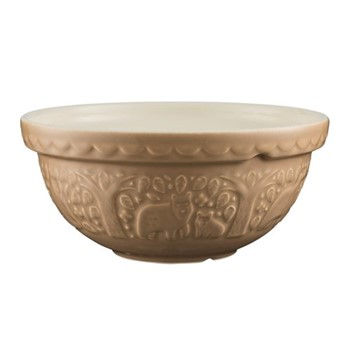 In The Forest Mixing bowl, L24.3xW24.3xH10.8cm, brown/bear