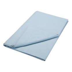 200TC Plain Dye King size flat sheet, L270 x W280cm, sky