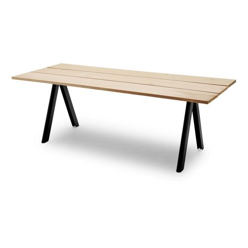 Overlap Table, L220 x W90 x H74cm, Anthracite Black