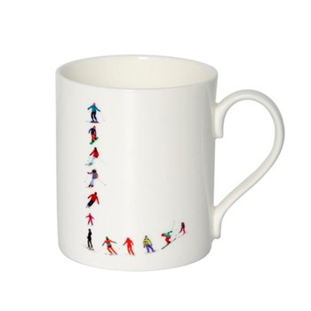 Alphabet - L Mug, H9.5 x W10.5 x D8.5cm - 35cl, multi