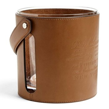 Cantwell Ice bucket, 18.4 x 17.6cm, brown/silver