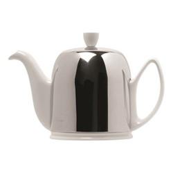 Salam Teapot, H15cm - 1 litre, white porcelain/stainless steel