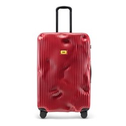 Stripe Large suitcase, H79 x W50 x D30cm, red