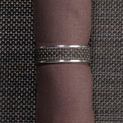 Mini Basketweave Napkin ring, 4cm, espresso