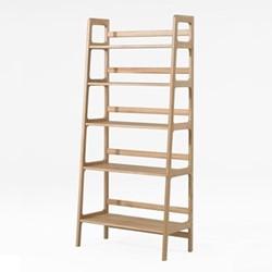 Agnes by Kay + Stemmer High shelving unit, W80 x D40 x H175cm, oak