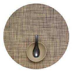 Basketweave Set of 4 round placemats, 38cm, bark