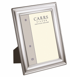 """LR Series - Plain Photograph frame, 10 x 8"""", silver plate with mahogany finish back"""