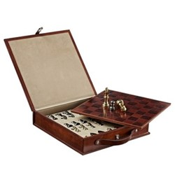 Chess set, W33 x D33cm, conker brown