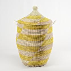 Alibaba Laundry basket, 66 x 38cm, Natural/Yellow