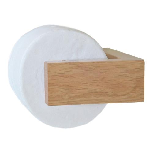 Slimline Loo roll holder, H5 x W16 x D11cm, Oak