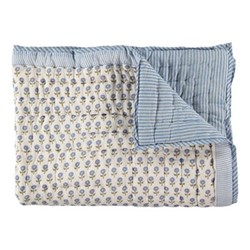 Daisy King/super king size quilt cover, 265 x 265cm, blue cotton