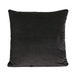 Monroe Square cushion, velvet/charcoal