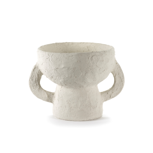 Earth Small vase, H23 x D23cm, White