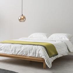 MADE Essentials - Kano Platform double bed, H25 x W155 x D210cm, Pine