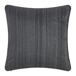 Silk cushion, 45 x 45cm, gunmetal grey