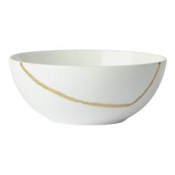 Sketch - Chalk Bowl, D13 x H5cm, White/Gold