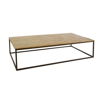Hirst Coffee table, W130 x H29 x D69cm, gold/black