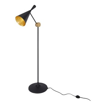 Beat Floor lamp, H168 x W59 x L59cm, black brass