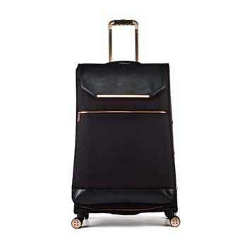 Albany Large 4 wheel trolley suitcase, L80 x W50 x D34cm, black