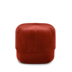 Circus Small pouf, L46 x H40 x D46cm, Red