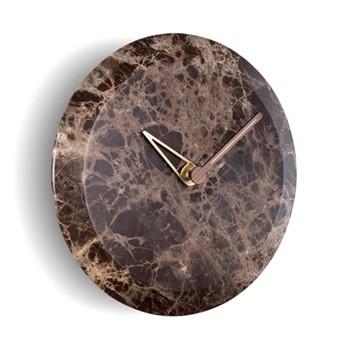 Bari M Emperador Wall hanging clock, D32cm, emperador marble