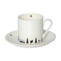 Joie De Vie Espresso cup & saucer, muti