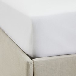 200 Thread Count Egyptian Cotton Fine Cord King size fitted sheet, W150 x L200 x D30cm, white