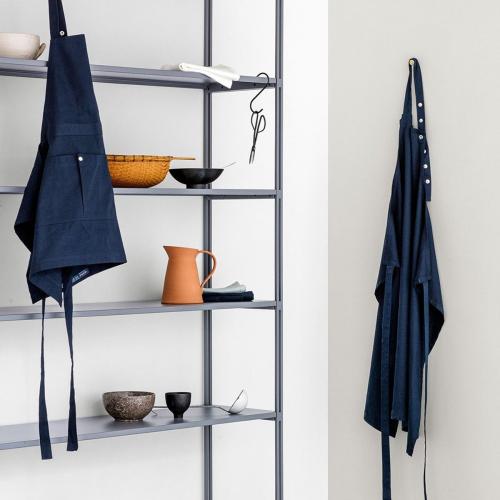 Twill Long apron, 105 x 110cm, Dark Blue