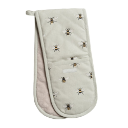 Bees Double oven glove, 18 x 84cm