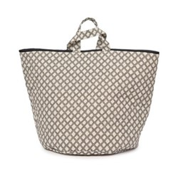 Cadogan Check Storage basket, 70 x 40cm, black