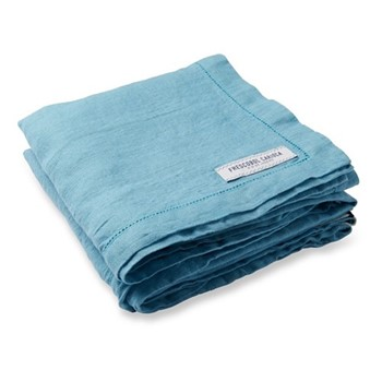 Linen beach towel, water blue