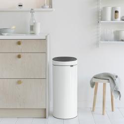 newIcon Touch bin, 30 litre, White