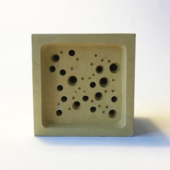 Bee Block Small bee house, 6.5 x 7 x 10.5cm, yellow