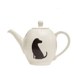 Labrador Teapot, H17 x W24cm - 910ml, black/white