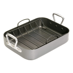 Non-stick roasting tin with rack, 40 x 28cm, Premium