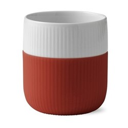 Fluted Contrast Mug, 33cl, rusty red