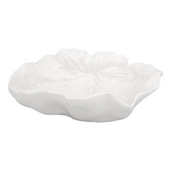 Cabbage Concave leaf dish, 26 x 25 x 8.5cm, beige