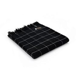 Merino Check Throw, 130 x 180cm, black