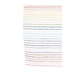 Rainbow Set of 4 napkins, 45 x 45cm, white