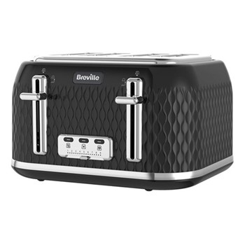 Curve - VTT786 Toaster, 4 Slice, black