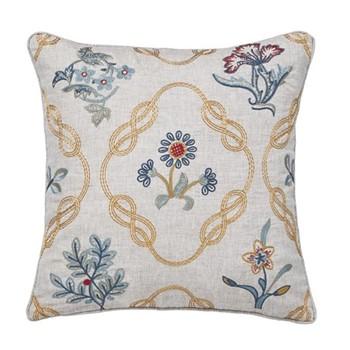 Strawberry Thief Cushion, L40 x W40 x H10cm, brown