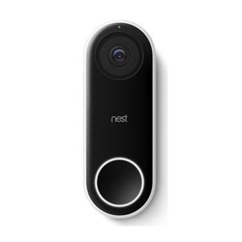 Hello Video doorbell, H2.6 x W4.3 x D11.7cm, black/white