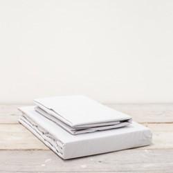 Vika King size flat sheet, 150 x 200 x 36cm, silver grey