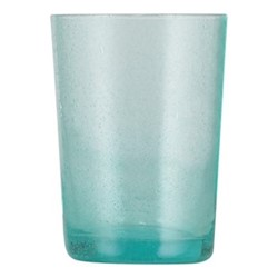 Set of 6 tumblers, H11 x D8cm - 340ml, turquoise blue