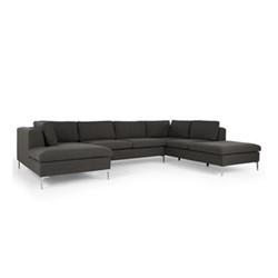 Monterosso Right hand facing corner sofa, H80 x W351 x D230cm, oyster grey