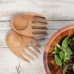 Tuscany Salad hands, 15cm, Acacia