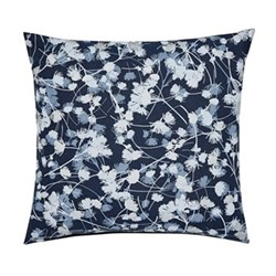 Blowing Grasses Cushion, L45 X W45 x 10cm, blue