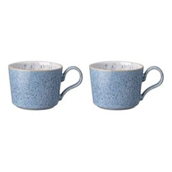 Studio Blue Pair of tea cups, H12.5cm - 26cl, flint